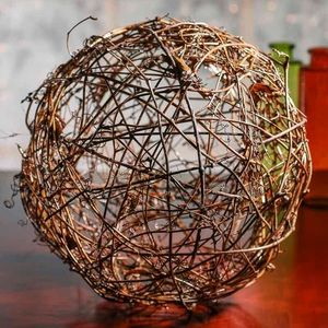 Accents - Set of 3 Grape vine twig natural ball orb decor